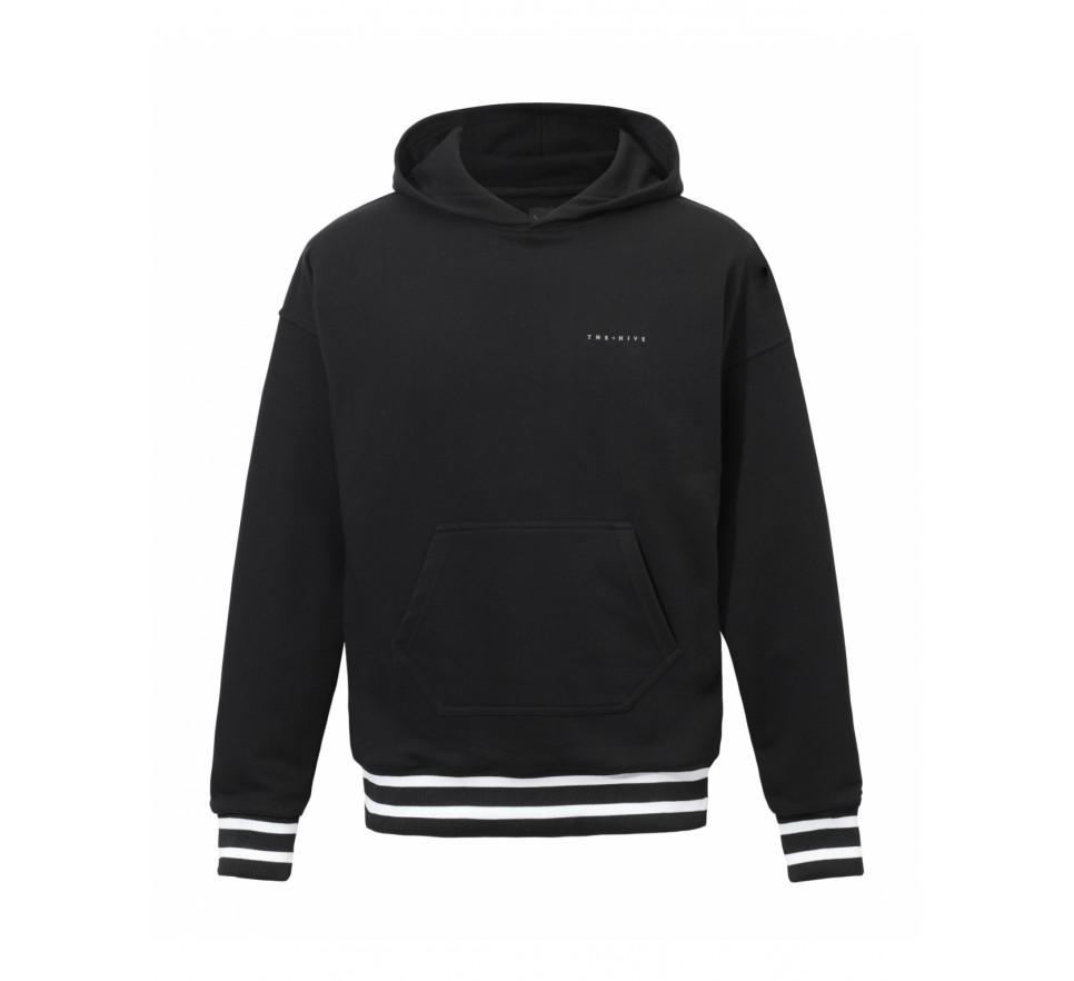Oversized Varcity Hoodie in black