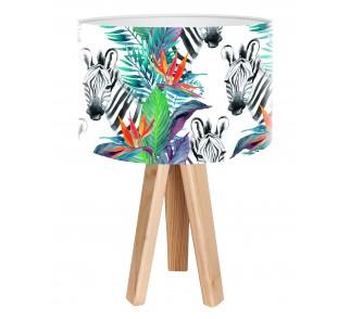 Egzotyczna lampa biurkowa MacoDesign Zebra tropiku