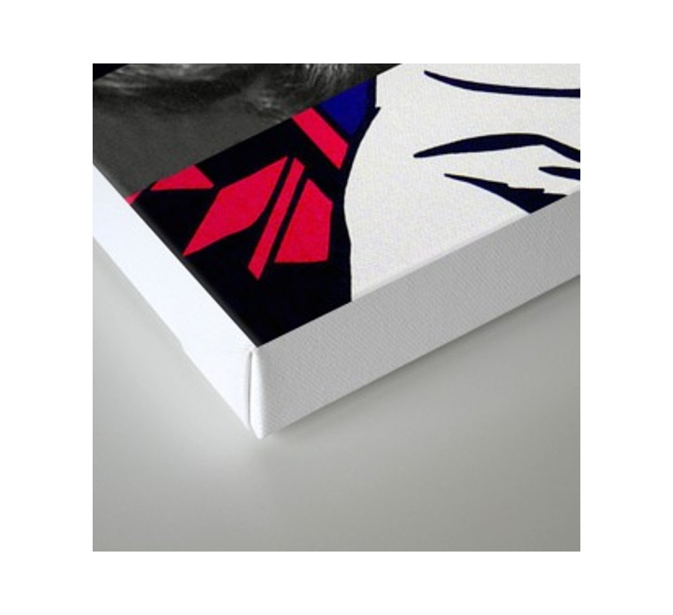 Roy Lichtenstein's M-Maybe & Lauren Bacall na płótnie i plakat