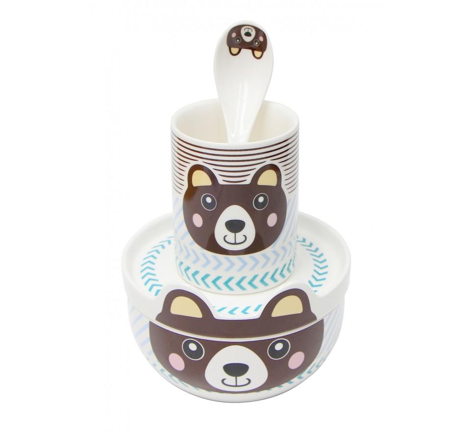 """Zestaw z porcelany """"Happy Miś"""" - Silly Design"""