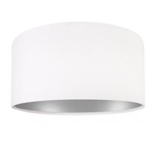 Klasyczna biała lampa wisząca MacoDesign Lilia srebrna