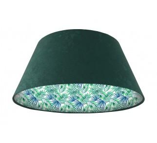 Lampa wisząca zielona Wielki Dzwon MacoDesign Egzotyczne liście