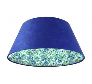 Lampa wisząca niebieska Wielki Dzwon MacoDesign Egzotyczne liście