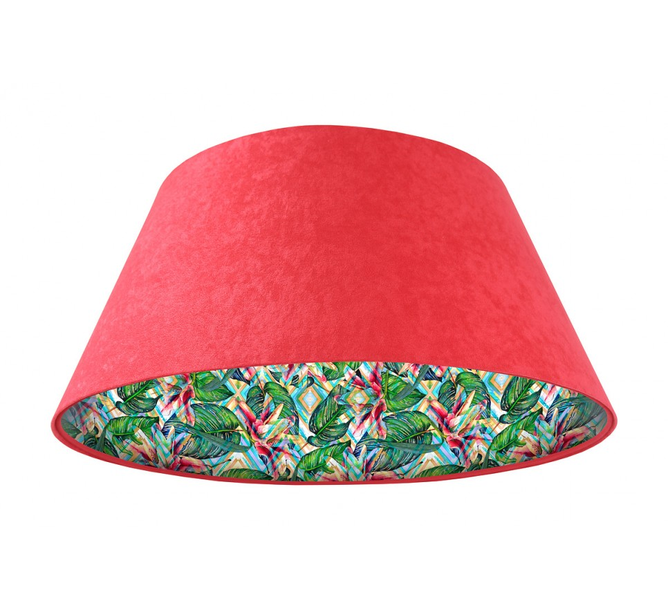 Lampa wisząca czerwona Wielki Dzwon MacoDesign Tropikalna moranda