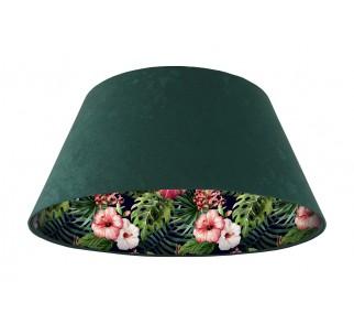 Lampa wisząca zielona Wielki Dzwon MacoDesign Czarna róża chińska