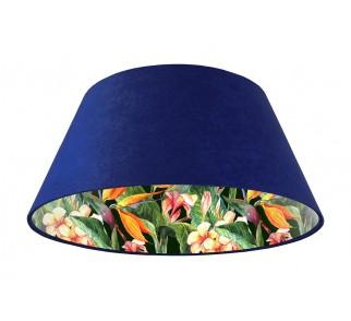 Lampa wisząca niebieska Wielki Dzwon MacoDesign Egzotyczna glorioza