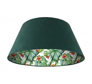 Lampa wisząca zielona Wielki Dzwon MacoDesign Delikatny hibiskus
