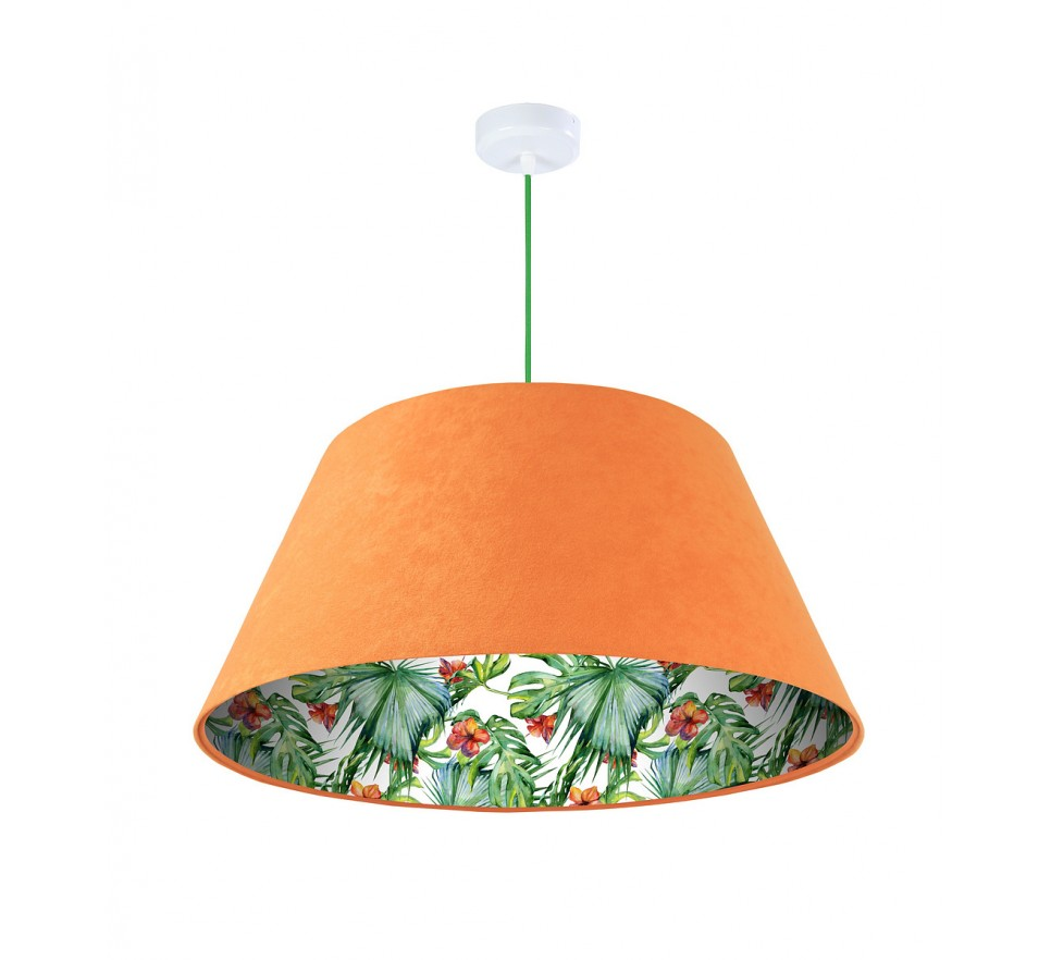 Lampa wisząca pomarańczowa Wielki Dzwon MacoDesign Delikatny hibiskus