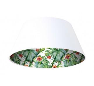 Lampa wisząca biała Wielki Dzwon MacoDesign Delikatny hibiskus