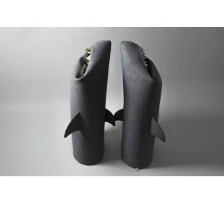 REKIN ANTRACYT / ANTHRACITE SHARK. Filcowy kosz na pranie lub zabawki. Rozmiar L