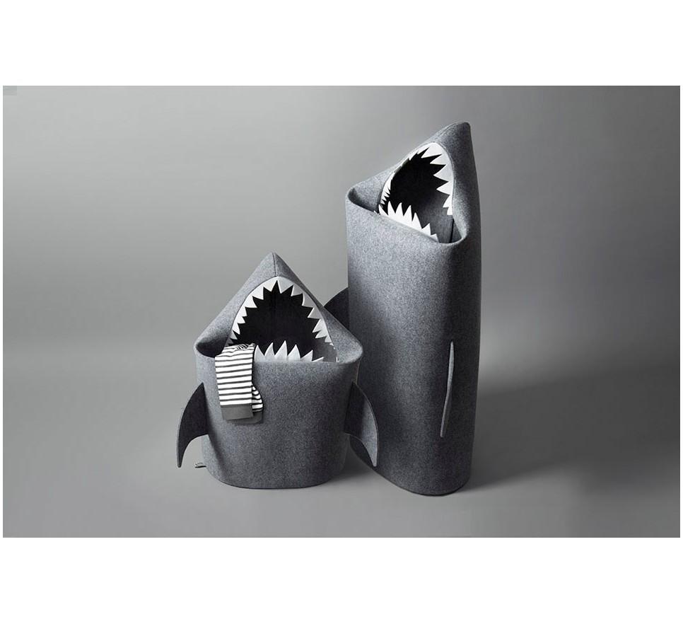 8971c5e174325 REKIN   BABY SHARK. Filcowy kosz na zabawki. Rozmiar S - Forum Designu