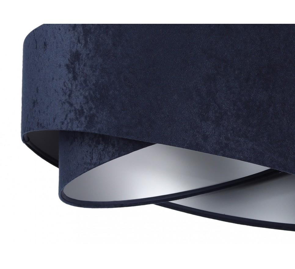 Nowoczesna lampa wisząca MacoDesign Granatowo-srebrna