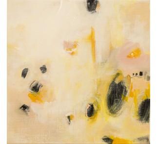 """Obraz """"Biszkopt"""" 40x40 cm - obraz abstrakcyjny ręcznie malowany"""