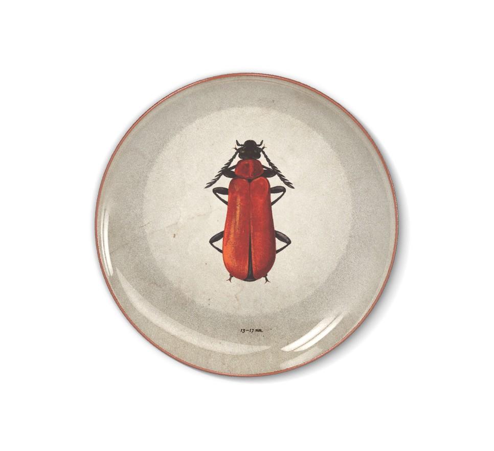 Talerz dekoracyjny Duży czerwony żuk