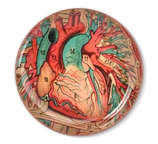 Talerz dekoracyjny Serce