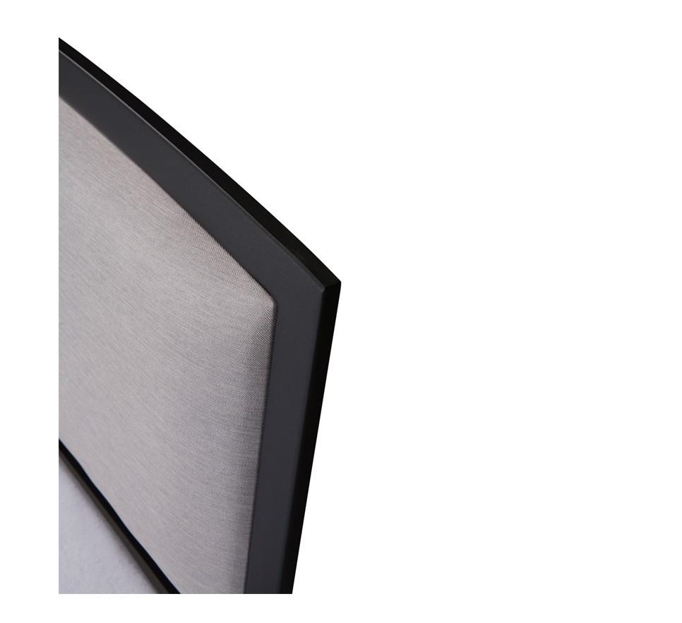 VANESSA Łóżko metalowe tapicerowane wezgłowie