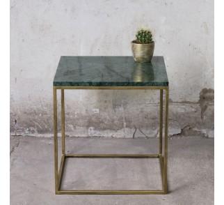 RANA Stolik kawowy metal marmur 50x50 cm