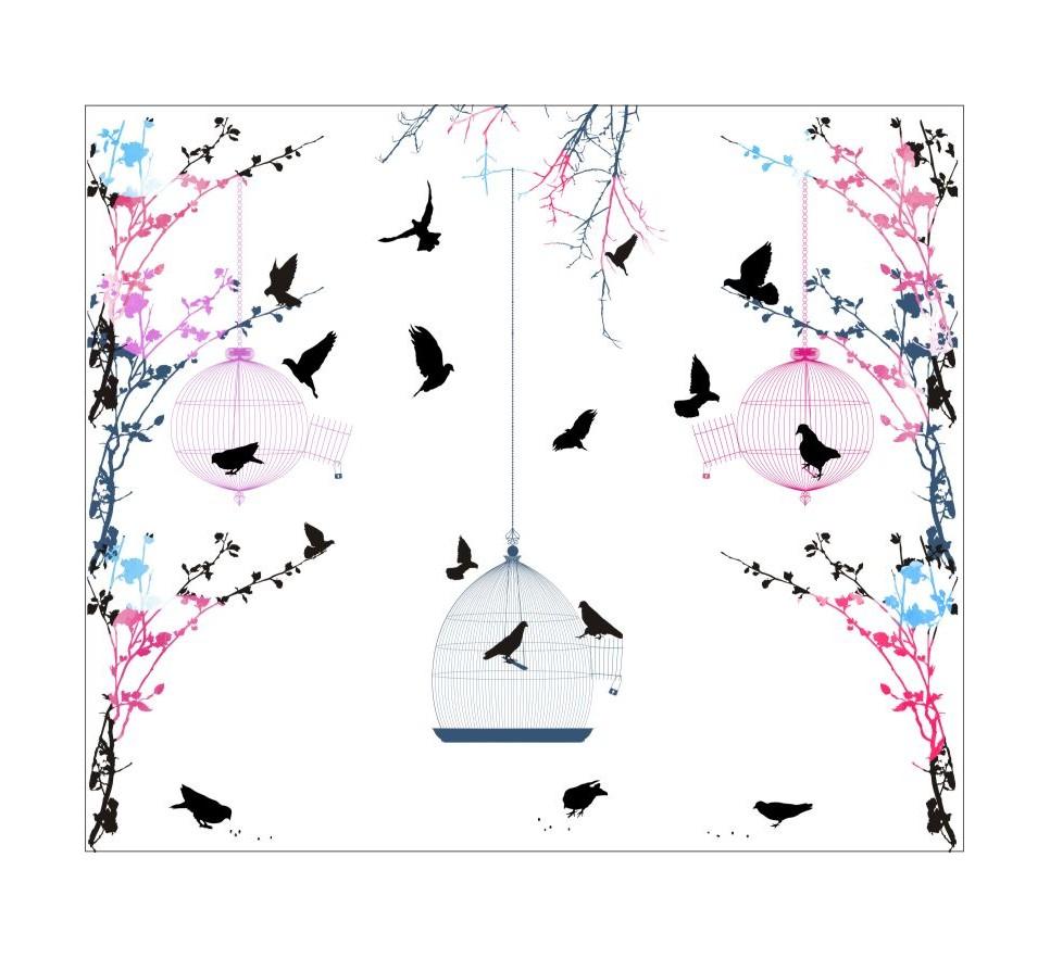Tapeta - Mural Free As A Bird z serii EasyFit