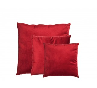 Aksamitna poduszka RED HEARD SET Czerwona