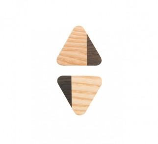 JUST TWO - gałka trójkątna - jasna