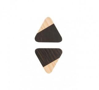 JUST TWO - gałka trójkątna - ciemna