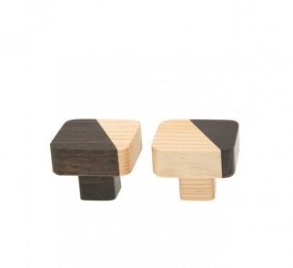 JUST TWO - gałka kwadratowa - dwa warianty kolorystyczne