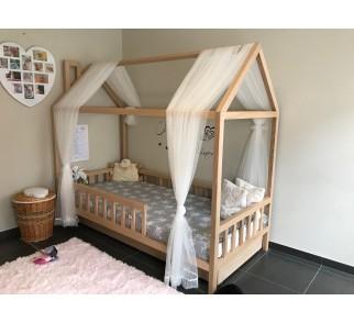 Łóżko-domek Z-drewutni Adventure naturalny