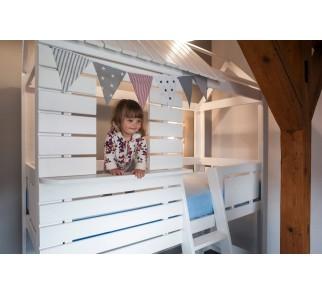 Łóżko-domek Z-drewutni Adventure białe