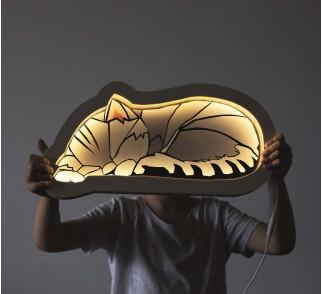 Lampka Kot szary