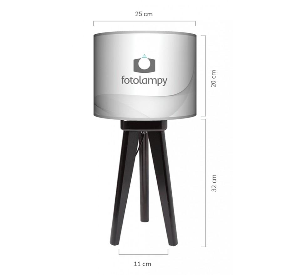Lampa stołowa trójnóg mały wymiary