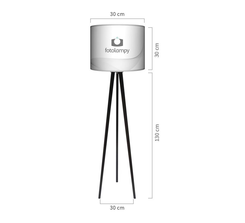 Lampa podłogowa trójnóg duży wymiary