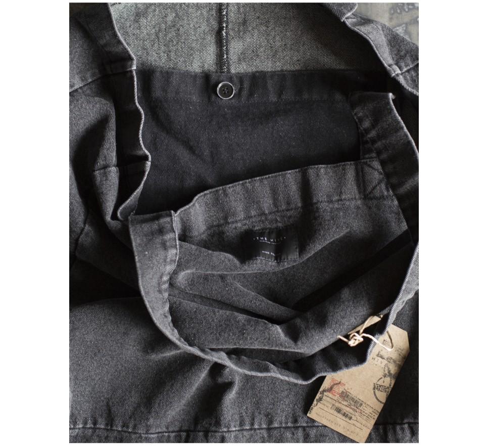 Denim bag in black