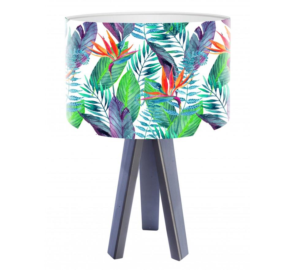 Egzotyczna lampa biurkowa MacoDesign Liście jungle