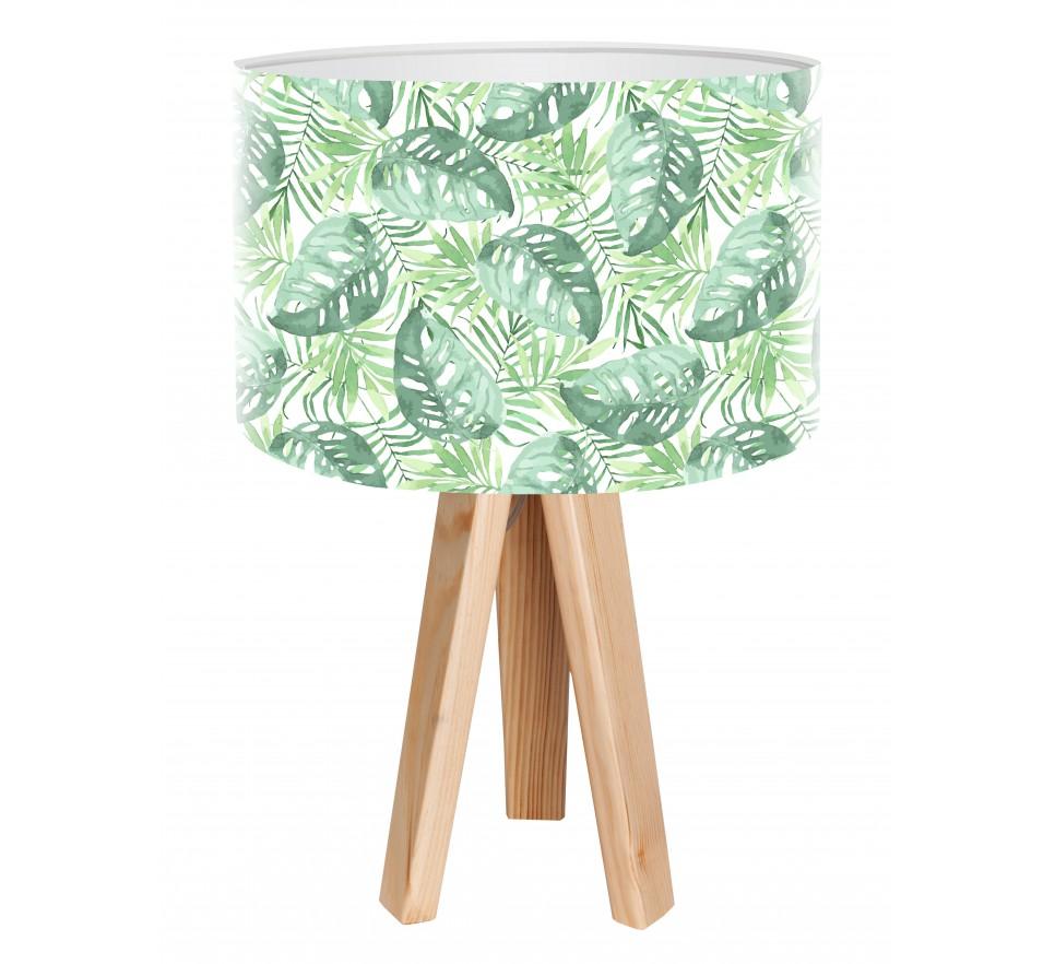 Egzotyczna lampa biurkowa MacoDesign Tropikalne liście