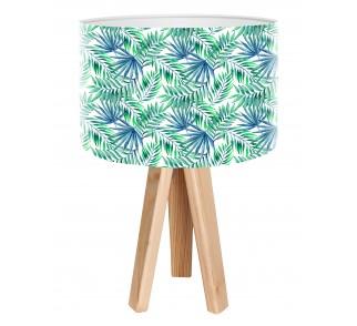 Modna lampa biurkowa MacoDesign Egzotyczne liście