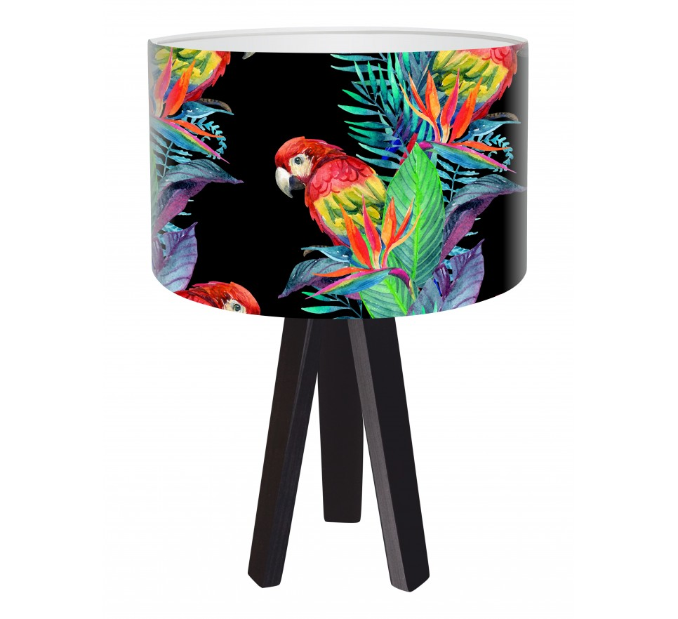 Modna lampa biurkowa MacoDesign Egzotyczna papuga