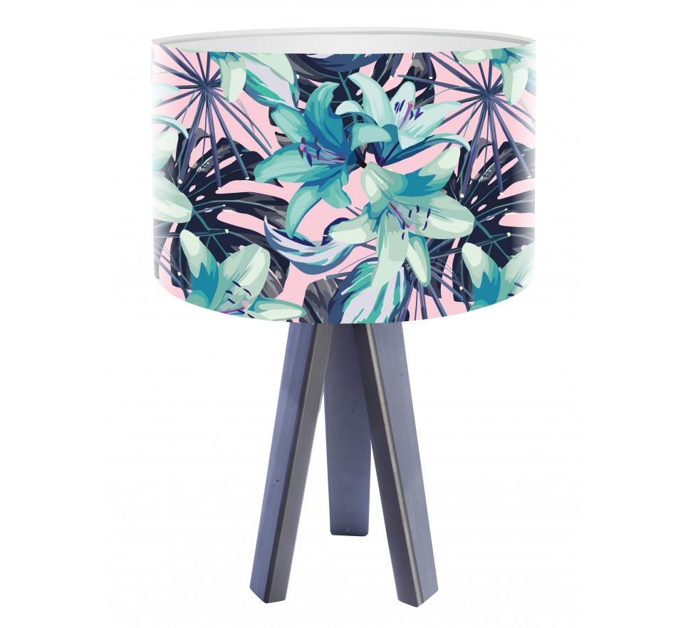 Egzotyczna lampa biurkowa MacoDesign Tropikalna lilia