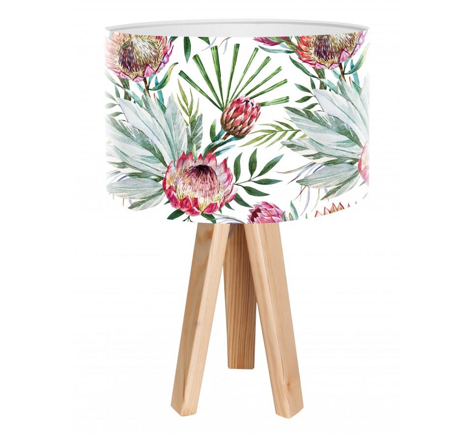 Egzotyczna lampa biurkowa MacoDesign Tropikalna echmea