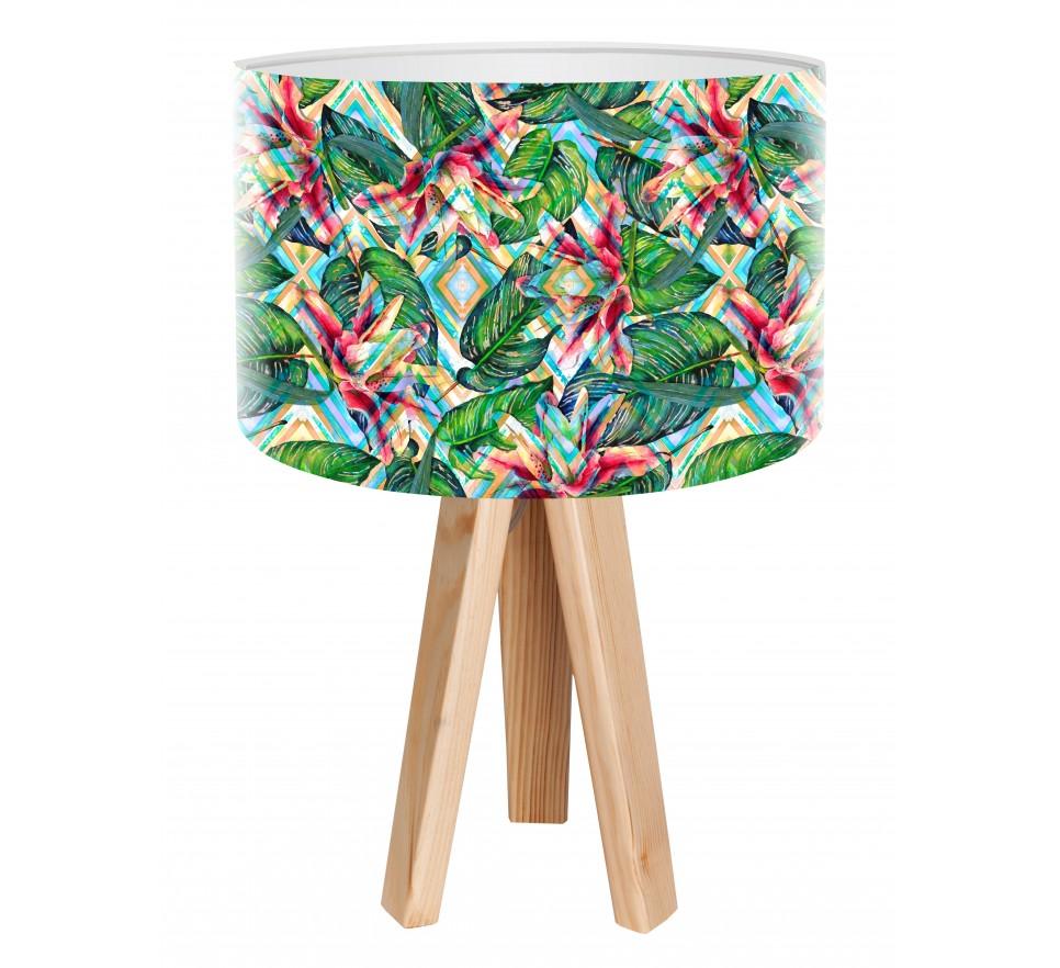 Egzotyczna lampa stołowa MacoDesign Tropikalna moranda