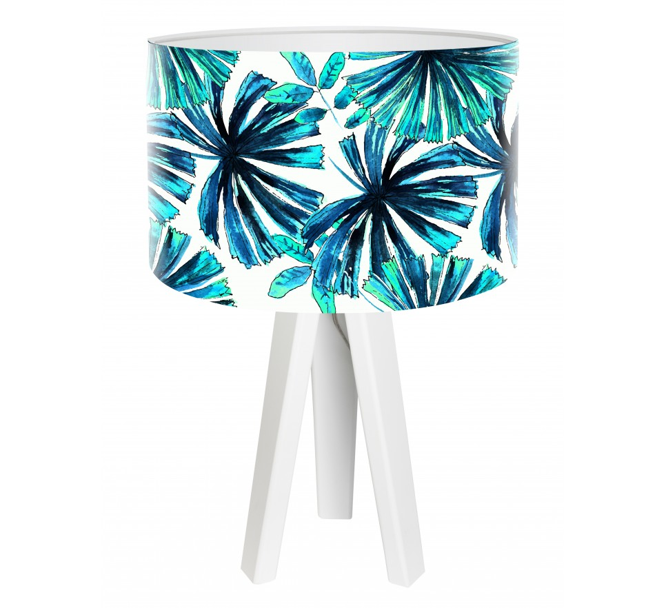 Egzotyczna lampa biurkowa MacoDesign Niebieska palma