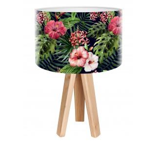 Egzotyczna lampa biurkowa MacoDesign Czarna róża chińska