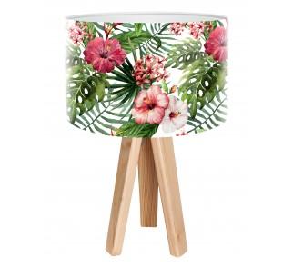 Egzotyczna lampa stołowa MacoDesign Biała róża chińska
