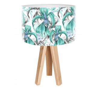 Egzotyczna lampa biurkowa MacoDesign Błękitna areka
