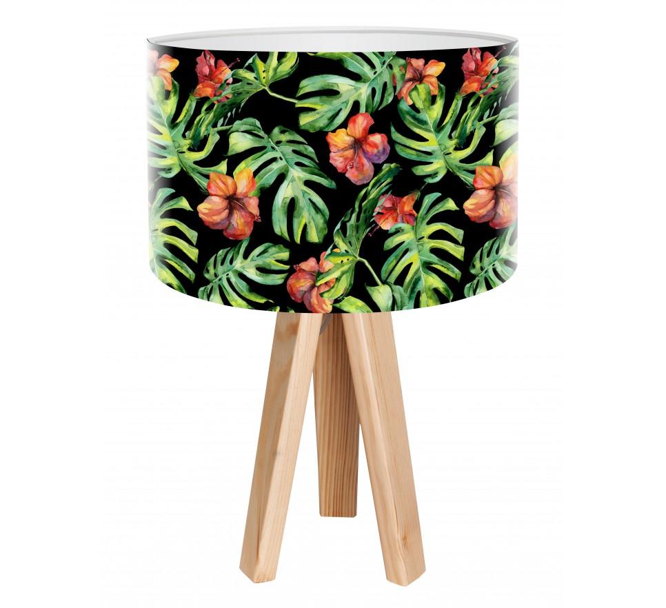 Modna lampa biurkowa MacoDesign Egzotyczny hibiskus