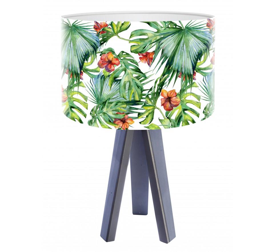 Egzotyczna lampa biurkowa MacoDesign Delikatny hibiskus