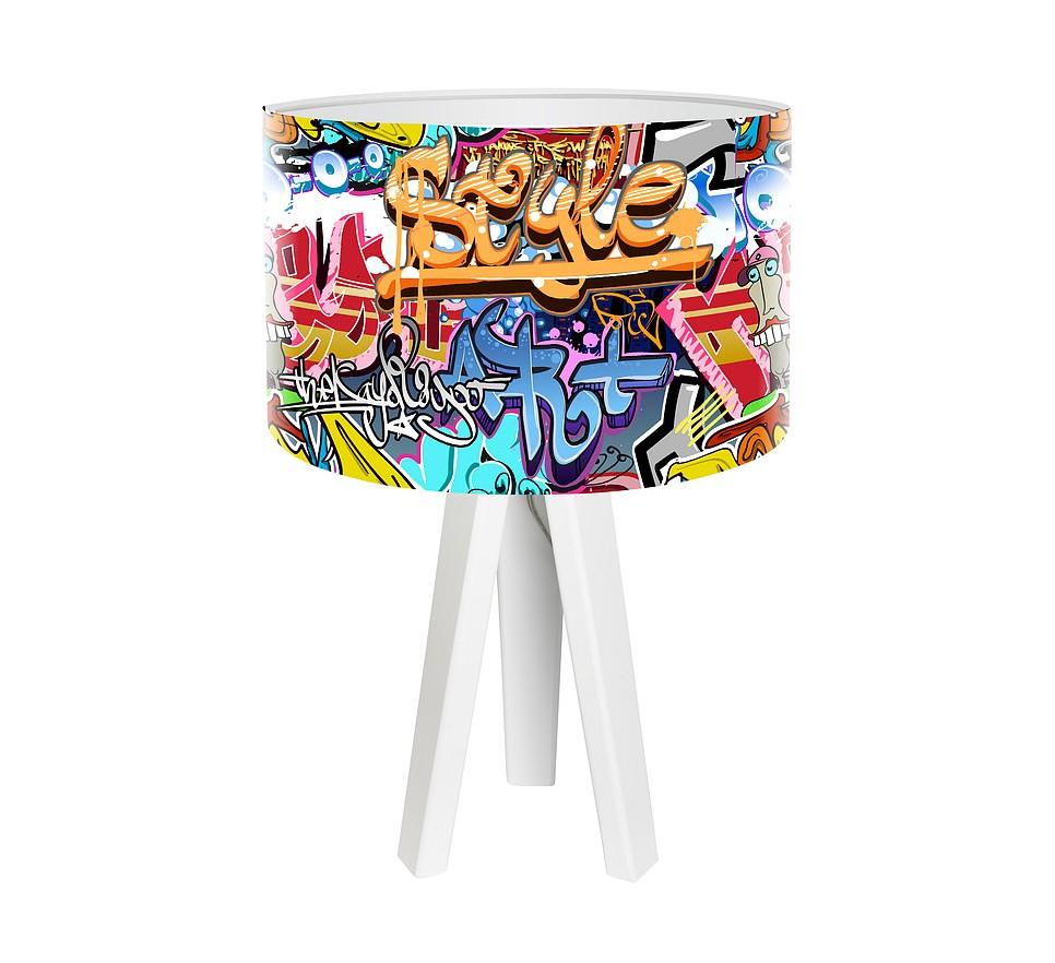 Modna lampa biurkowa MacoDesign Grafitti Style