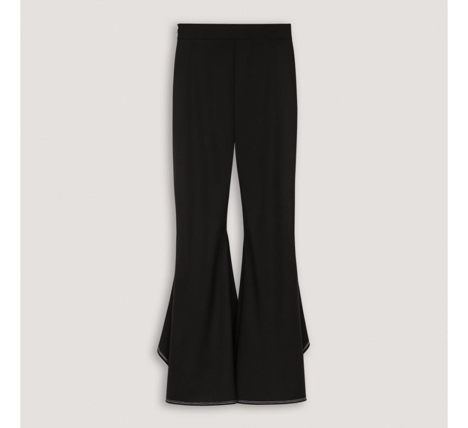 Spodnie z falbaniastymi nogawkami