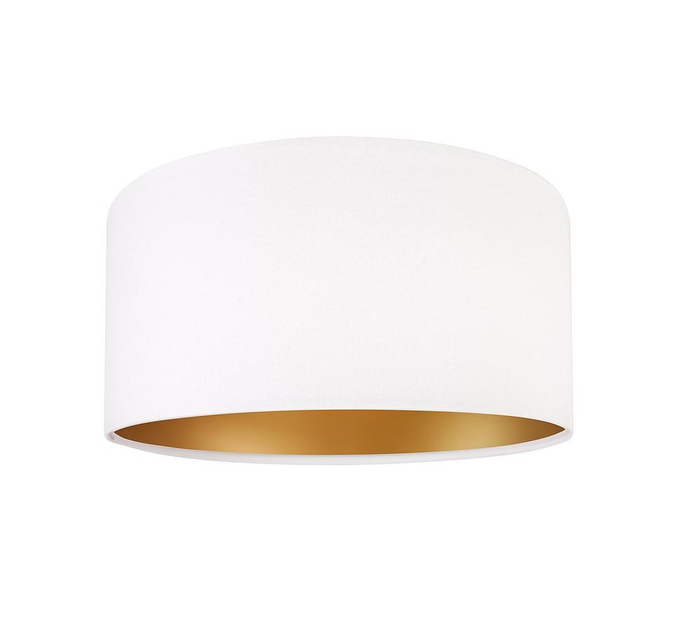 Klasyczna biała lampa wisząca MacoDesign Lilia złota 40 cm.