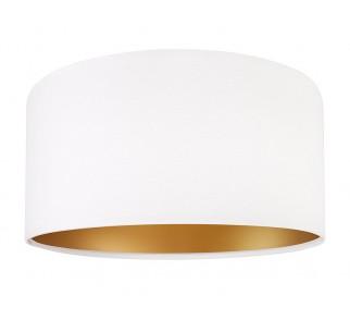 Klasyczna biała lampa wisząca MacoDesign Lilia złota 50 cm.