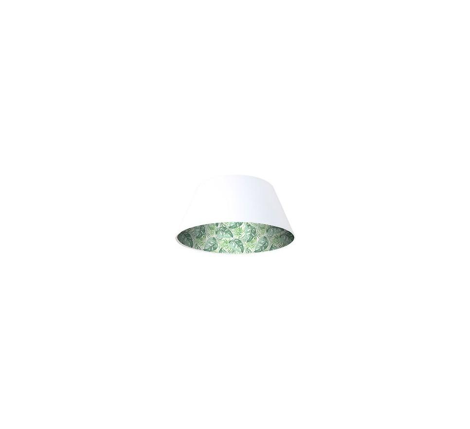 Lampa wisząca biała Wielki Dzwon MacoDesign Tropikalne liście